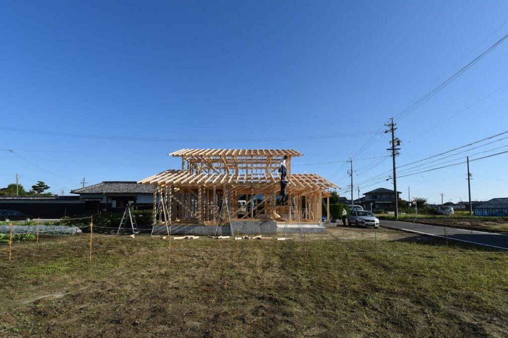 愛知の木組み2 建方