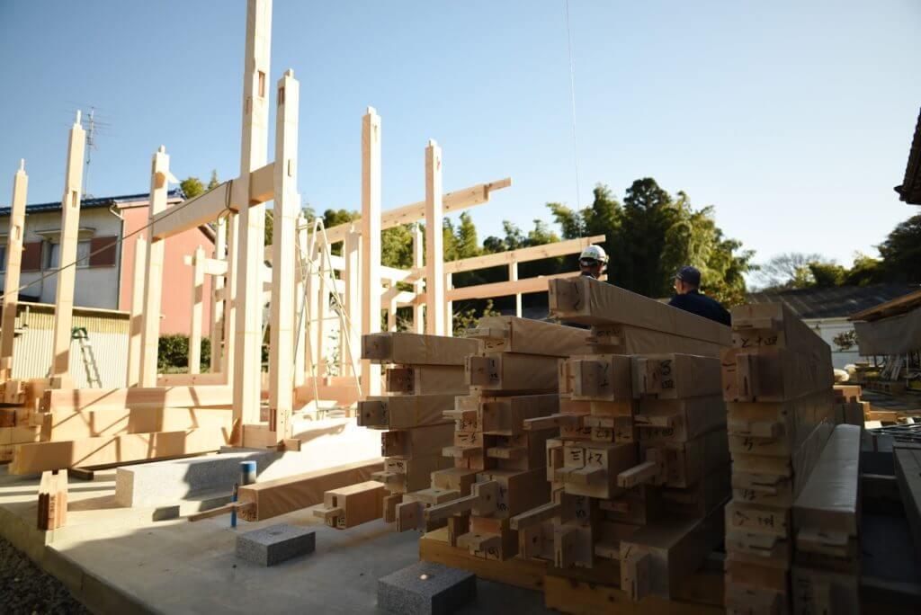 愛知の石場建て6 建て方