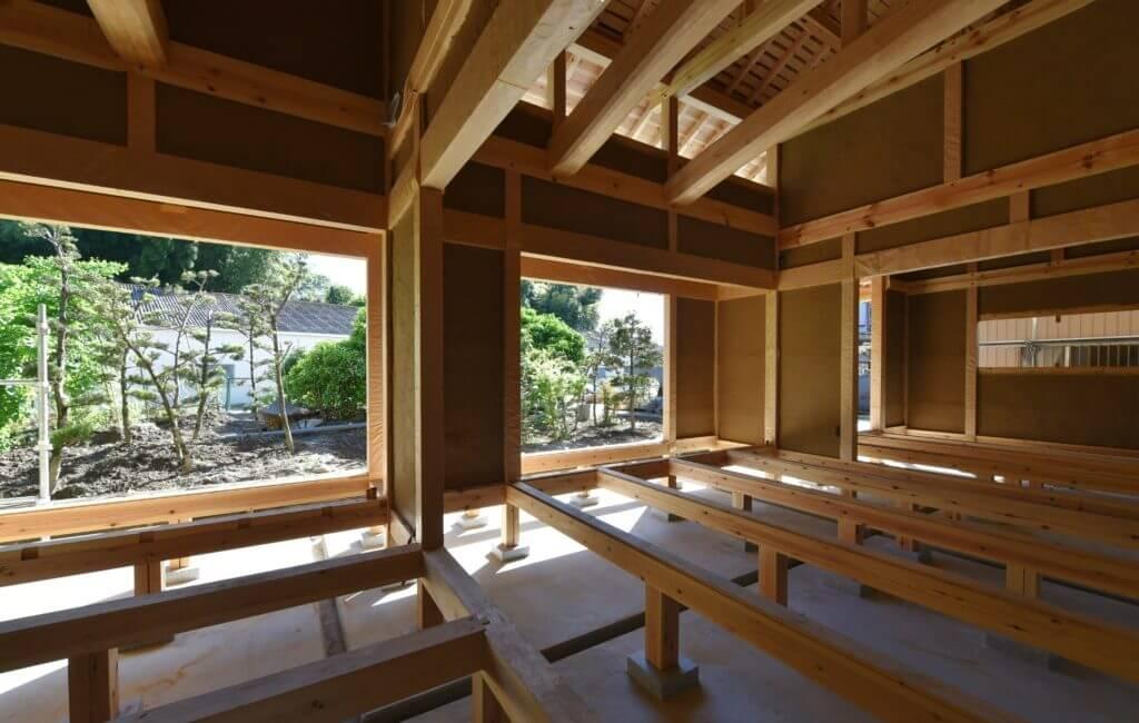 愛知の石場建て10 土壁見学会