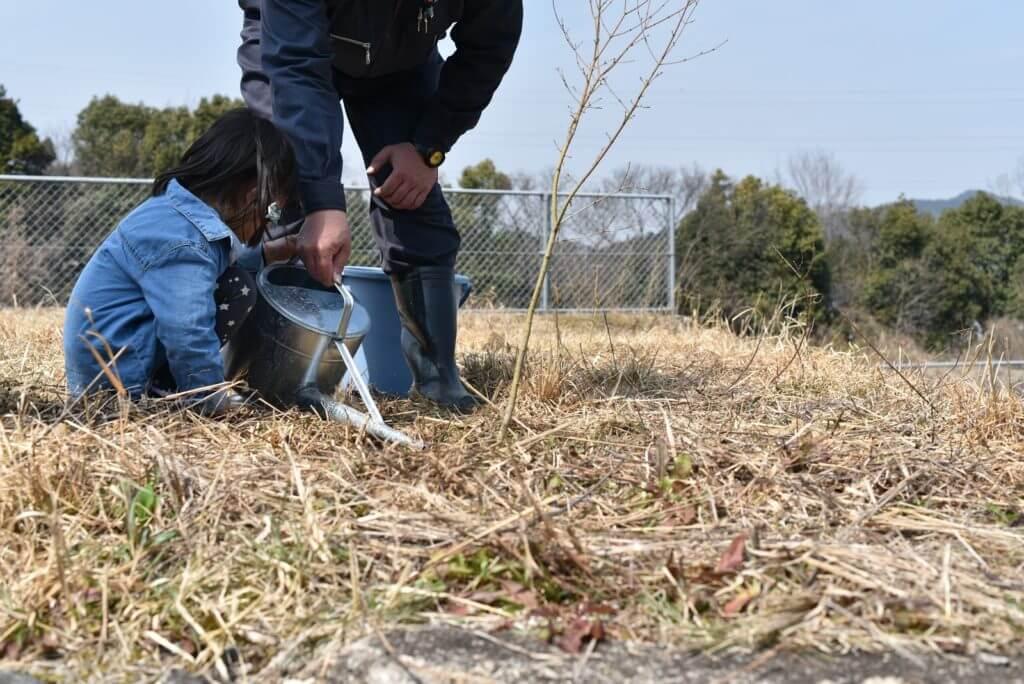岐阜の石場建て3 植樹会