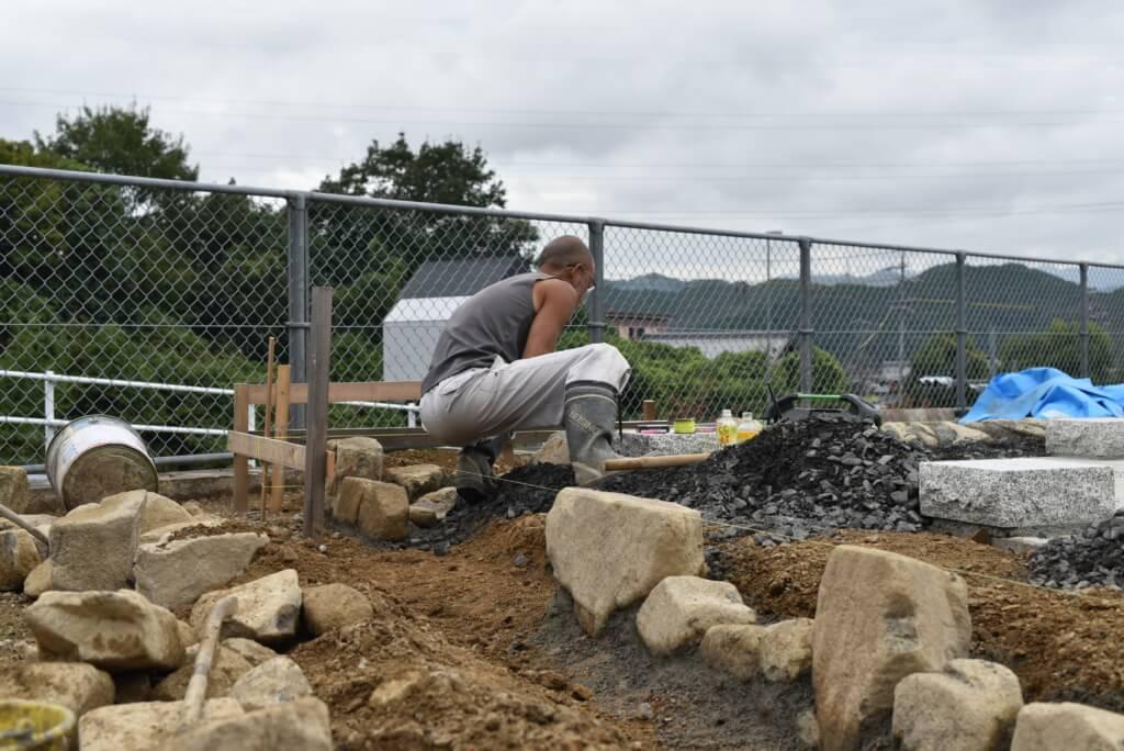 岐阜の石場建て6 石積み