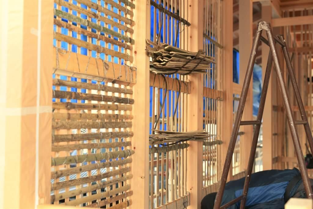 岐阜の石場建て9 竹小舞