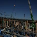 岐阜の石場建て8 建て方