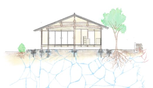 豊田の石場建て1 気候風土適応住宅